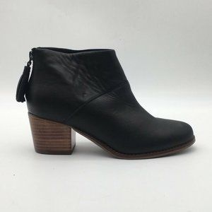 Toms Womens Ankle Boots Black Round Toe Size 7 New